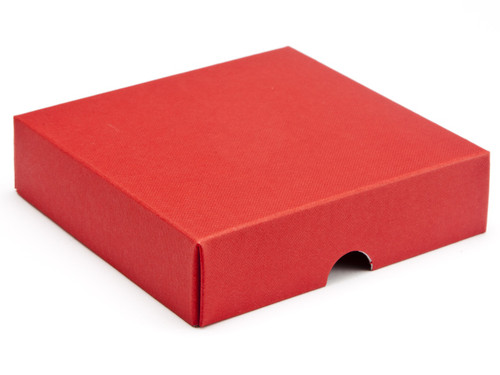 9 Choc Square Wibalin Lid - Red [LID ONLY] | Meridian Speciality Packaging