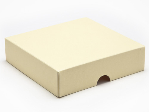 9 Choc Square Wibalin Lid - Cream [LID ONLY] | Meridian Speciality Packaging