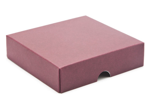 9 Choc Square Wibalin Lid - Burgundy [LID ONLY] | Meridian Speciality Packaging