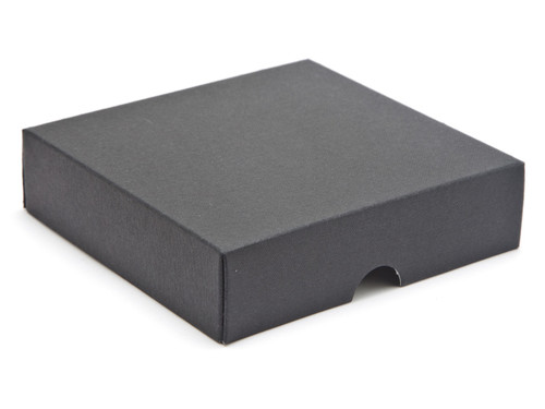 9 Choc Square Wibalin Lid - Black [LID ONLY] | Meridian Speciality Packaging