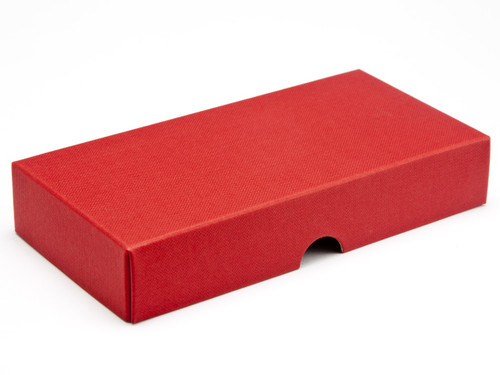 8 Choc Wibalin Lid - Red [LID ONLY] | Meridian Speciality Packaging