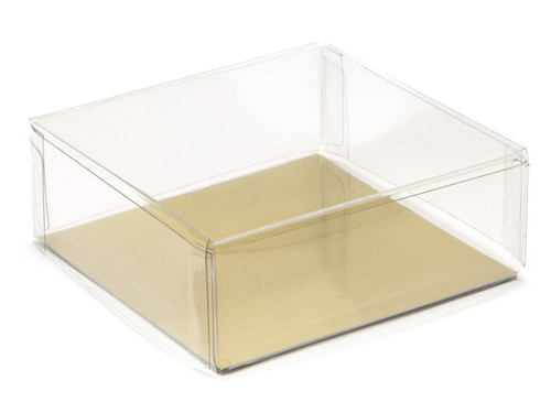 80x80x30 Square Transparent Base and Lid - Clear | MeridianSP