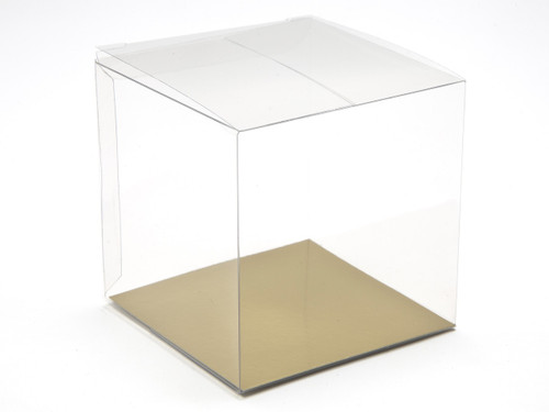 80mm Transparent Cube Carton - Clear | MeridianSP