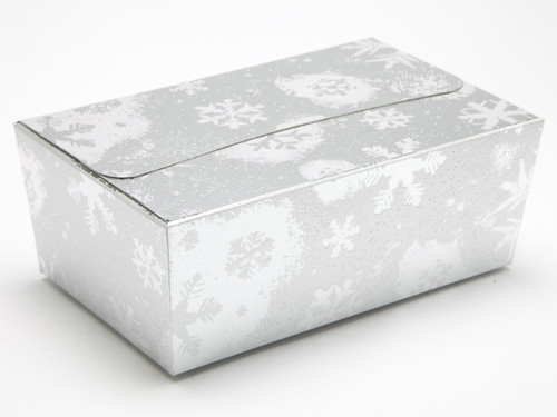 750g Ballotin - Silver Snowflake | Meridian Speciality Packaging