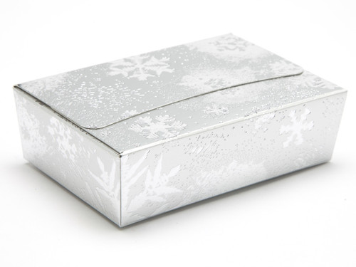 6 Choc Ballotin - Silver Snowflake | Meridian Speciality Packaging