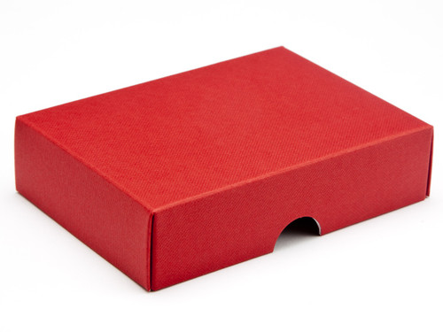 6 Choc Wibalin Lid - Red [LID ONLY] | Meridian Speciality Packaging