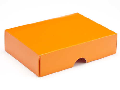 6 choc Lid - Orange [LID ONLY] | Meridian Speciality Packaging