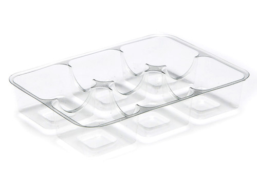 6 Choc Vac-Forme Tray - Clear | Meridian Speciality Packaging
