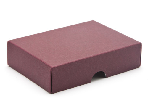 6 Choc Wibalin Lid - Burgundy [LID ONLY] | Meridian Speciality Packaging