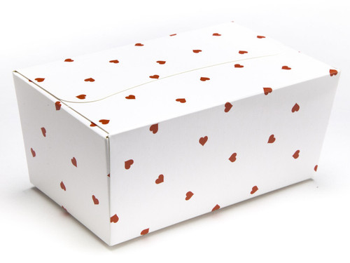 500g Ballotin - Small Red Hearts on White| MeridianSP