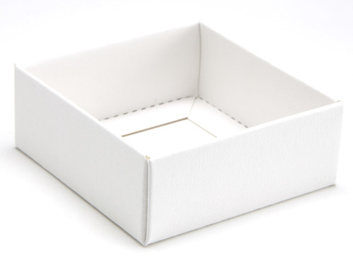 4 Choc Square White Wibalin Base [BASE ONLY] | Meridian Speciality Packaging