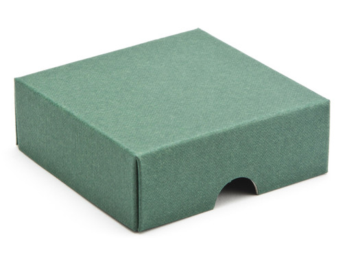 4 Choc Square Wibalin Lid - Green [LID ONLY] | Meridian Speciality Packaging