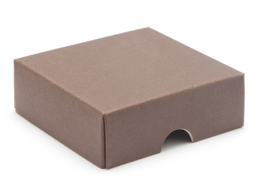 4 Choc Square Choc. Brown Wibalin Lid [LID ONLY] | Meridian Speciality Packaging