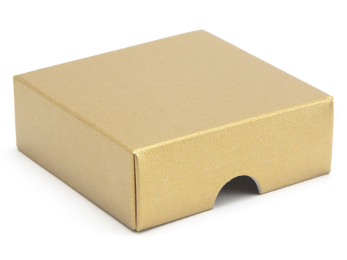 4 Choc Wibalin Lid - Gold | Meridian Speciality Packaging