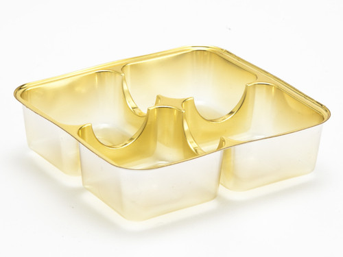 4 Choc Vac-Forme Tray - Gold | Meridian Speciality Packaging
