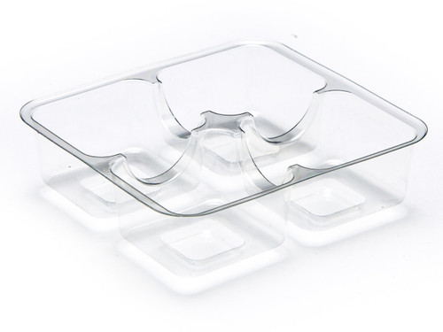 4 Choc Vac-Forme Tray - Clear   Meridian Speciality Packaging