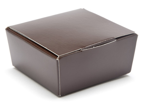 4 Choc Ballotin - Chocolate Brown | Meridian Speciality Packaging
