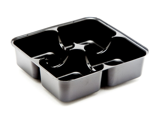4 Choc Vac-Forme Tray - Black | Meridian Speciality Packaging