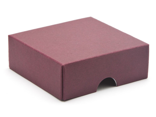 4 Choc Wibalin Lid - Burgundy [LID ONLY] | Meridian Speciality Packaging