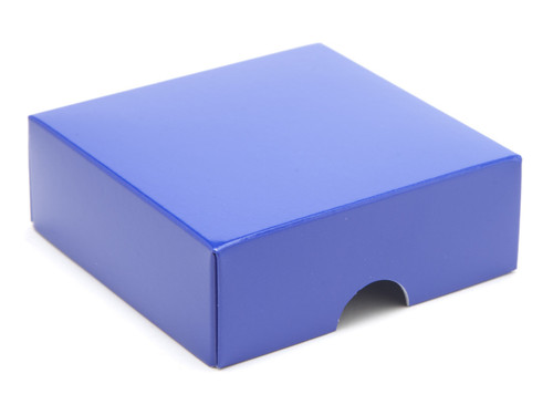 4 Choc Lid - Blue [LID ONLY] | Meridian Speciality Packaging