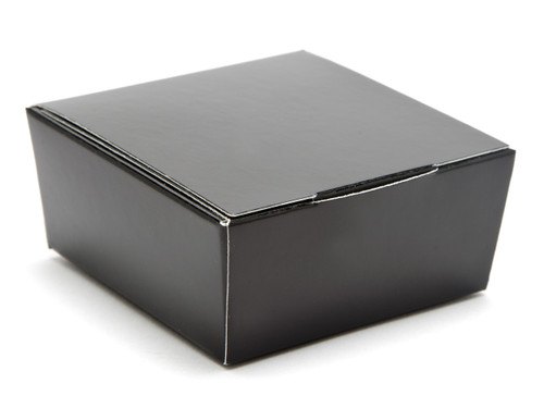 4 Choc Ballotin - Black | Meridian Speciality Packaging