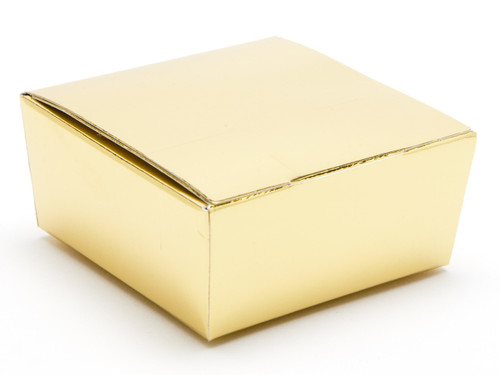 4 Choc Ballotin - Bright Gold | Meridian Speciality Packaging