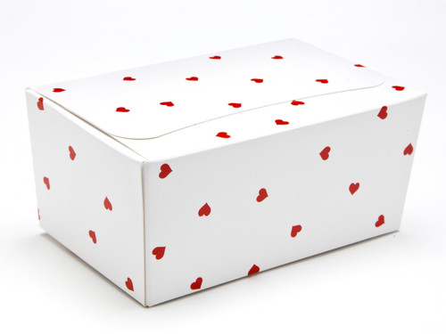 375g Ballotin - Small Red Hearts on White| MeridianSP
