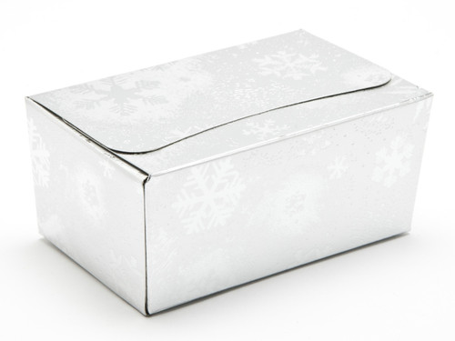 375g Ballotin - Silver Snowflake | Meridian Speciality Packaging