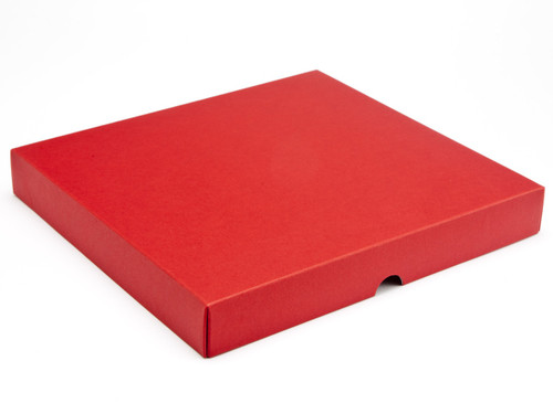 36 Choc Square Wibalin Lid - Red [LID ONLY] | Meridian Speciality Packaging