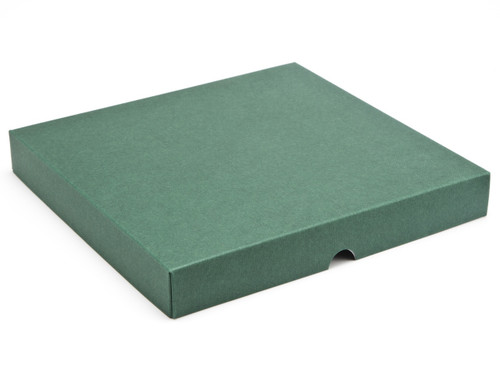 36 Choc Square Wibalin Lid - Green [LID ONLY] | Meridian Speciality Packaging