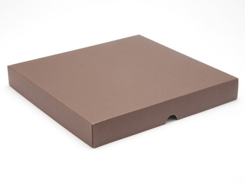 36 Choc Square Choc. Brown Wibalin Lid [LID ONLY] | Meridian Speciality Packaging