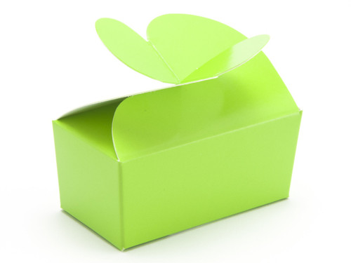 2 Choc Vibrant Green Butterfly Ballotin | Meridian Speciality Packaging