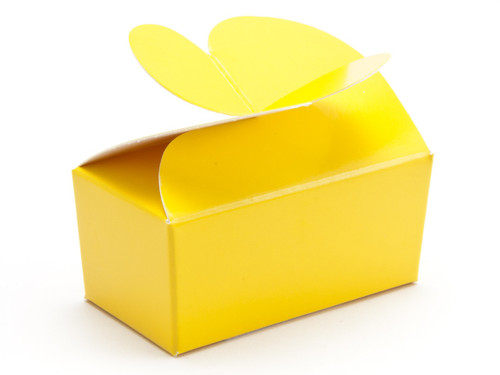2 Choc Sunshine Yellow Butterfly Ballotin | Meridian Speciality Packaging