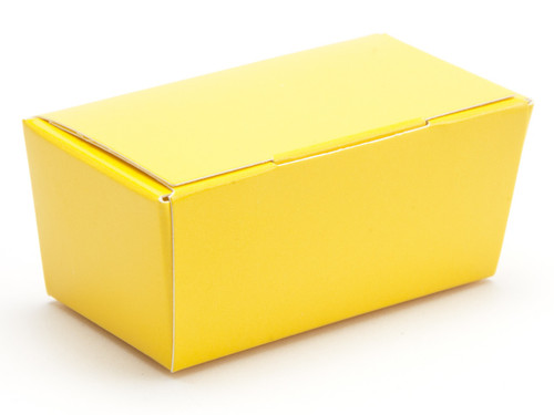 2 Choc Ballotin - Sunshine Yellow | Meridian Speciality Packaging