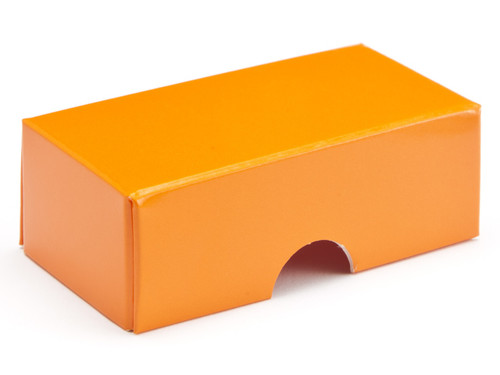 2 choc Lid - Orange [LID ONLY] | Meridian Speciality Packaging