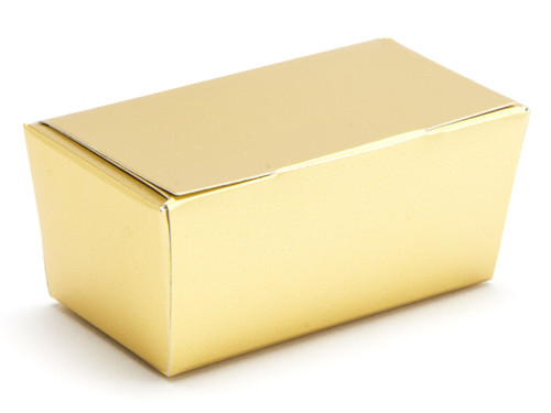 2 Choc Ballotin - Matt Gold | Meridian Speciality Packaging