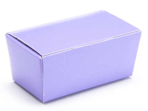 2 Choc Ballotin - Lilac | Meridian Speciality Packaging