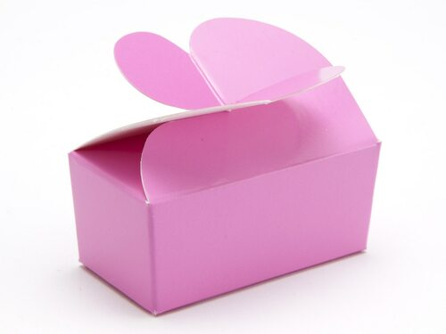 2 Choc Electric Pink Butterfly Ballotin   Meridian Speciality Packaging