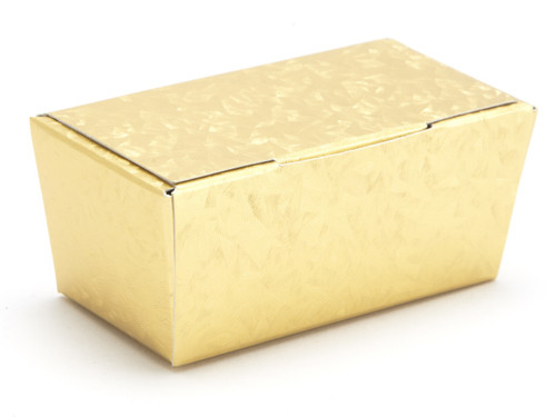 2 Choc Ballotin - Embossed Gold | Meridian Speciality Packaging
