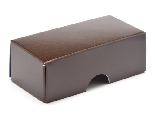 2 Choc Lid - Chocolate Brown [LID ONLY] | Meridian Speciality Packaging