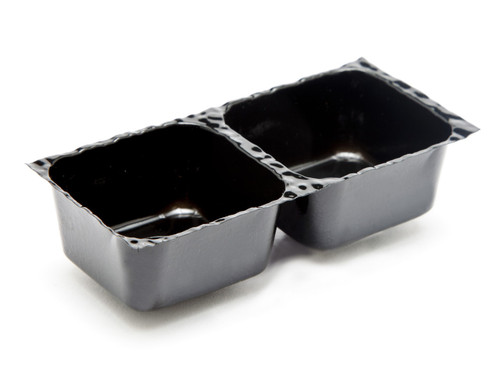2 Choc Vac-Forme Tray - Black | Meridian Speciality Packaging