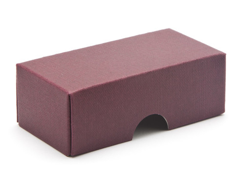 2 Choc Wibalin Lid - Burgundy [LID ONLY] | Meridian Speciality Packaging