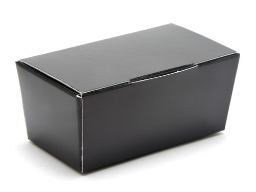 2 Choc Ballotin - Black | Meridian Speciality Packaging