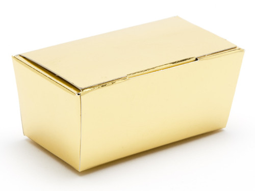 2 Choc Ballotin - Bright Gold | Meridian Speciality Packaging