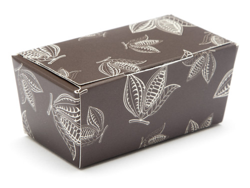 2 Choc Ballotin - Brown Cocoa Pod | Meridian Speciality Packaging