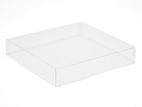 25 Choc Square Transparent Lid - Clear | MeridianSP