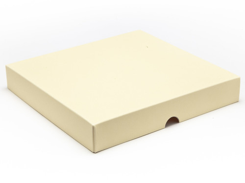25 Choc Square Wibalin Lid - Cream - [LID ONLY] | MeridianSP