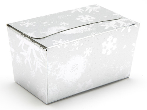 250g Ballotin - Silver Snowflake | Meridian Speciality Packaging