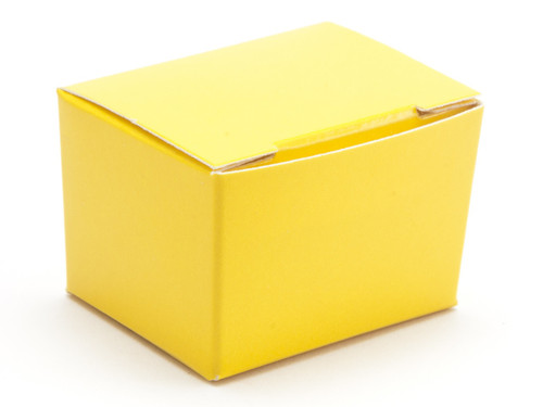 1 Choc Ballotin - Sunshine Yellow | Meridian Speciality Packaging