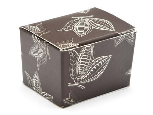 1 Choc Ballotin - Brown Cocoa Pod | Meridian Speciality Packaging